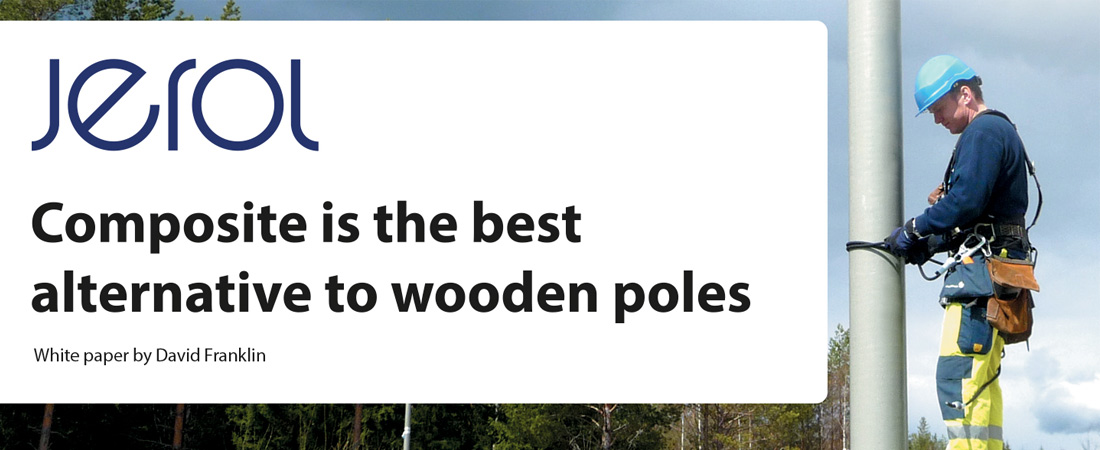 Composite is the best alternative to wooden poles